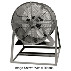 "Americraft 36"" Steel Propeller Fan With Medium Stand 36DSL-1-1/2M-3-TEFC 1-1/2 HP 14500 CFM"