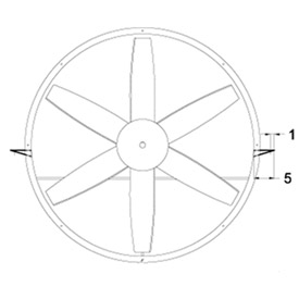 """Horizontal Mounting Brackets for 12"""" Duct Fans"""