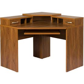 American Furniture Classics - Corner Desk W/Monitor Platform, Autumn Oak