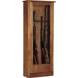 American Furniture Classics 724-10 Wood Gun Storage Cabinet, 10 Long Guns
