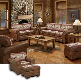 American Furniture Classics Sierra Lodge Set, Includes Sofa, Loveseat, Chair & Ottoman