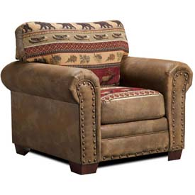 American Furniture Classics Sierra Lodge Chair, 100% Cotton Tapestry