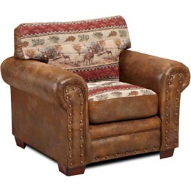 American Furniture Classics Deer Valley Chair, 100% Cotton Tapestry