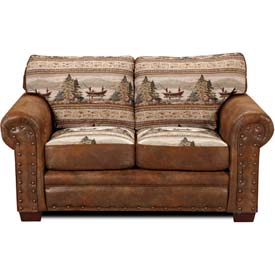 American Furniture Classics Alpine Lodge Loveseat, 100% Cotton Tapestry