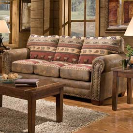 American Furniture Classics Sierra Lodge Sofa, 100% Cotton Tapestry