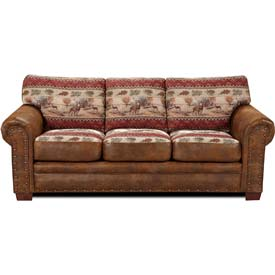American Furniture Classics Deer Valley Sofa, 100% Cotton Tapestry