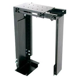 Adjustable CPU Holder For Desk/Wall Mount - Grey