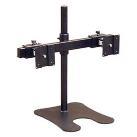 LCD / Flat Panel Monitor Holder For Dual LCD Monitor w/ U-Shape Base
