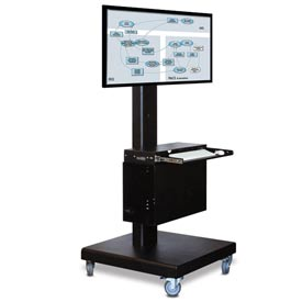 M2 Computing Cart™ w/ Front CPU Compartment - Black