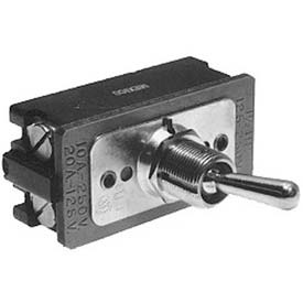 Toggle Switch, 125/250V, 10/20A, Black/Silver, For Roundup, 4010111