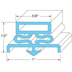 "Door Gasket 21-5/8"" x 59-5/8"" For Traulsen, TRA341-09503-00 by"