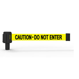 Crowd Control Wall Mounted Retractable Barriers Banner