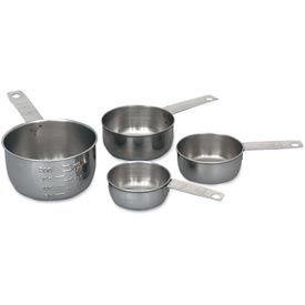 Click here to buy Alegacy 1191MC Measuring Cup Set, Stainless Steel, Wire Handle Package Count 12.