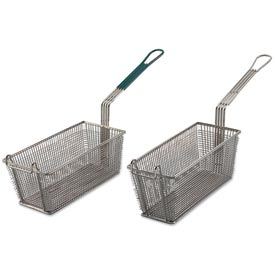 Alegacy 79204 Wire Rectangular Fry Basket w/ Green Plastic Handle, 13 x 5-3/8 Package Count 12 by