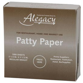Alegacy A5HP Patty Paper by