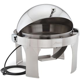 Alegacy AL530AE Half, Size Dome Cover Savoir Chafer With Brass Legs/Electric by