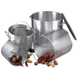 Alegacy EWSB40 40 Qt. Stock Pot, with Lid and Basket by