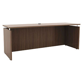 "Click here to buy Alera Credenza Shell 72""W x 23-5/8""D x 29-1/2""H Modern Walnut Sedina Series."