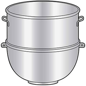 Univex 30 UBW Mixer Bowl For 30 Quart Univex Mixers (Manufactured After 1985), 30 Qt.... by