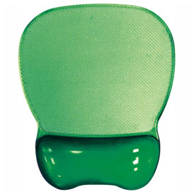 Aidata GGL003G Crystal Gel Keyboard Wrist Rest, Green by