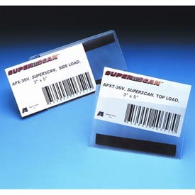 "Label Holders, 3"" x 5"", Clear, Hook/Loop - Side Load (50 pcs/pkg)"