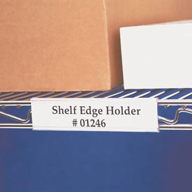 "Wire Shelving Label Holder, 6"" x 1-5/16"", Clear (25 pcs/pkg)"