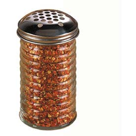 American Metalcraft BEE319 Cheese Shaker, 12 Oz., Extra Large Holes, Glass, W/Stainless... by