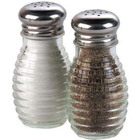 American Metalcraft BHM2 Salt & Pepper Shaker, 2 Oz., Glass, W/Stainless Steel Top by
