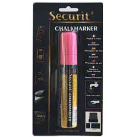 American Metalcraft BLSMA720PI - Securit Chalk Markers, Rain & Smear Proof, Big Tip, Pink