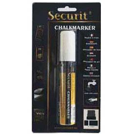 American Metalcraft BLSMA720WT - Securit Chalk Markers, Both Rain & Smear Proof, Big Tip, White