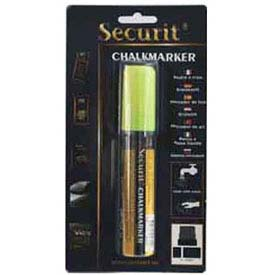 American Metalcraft BLSMA720YE - Securit Chalk Markers, Rain & Smear Proof, Big Tip, Yellow