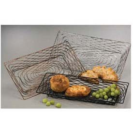 American Metalcraft BNBB32 - Birdnest Basket, 18-1/4 x 8-1/8 x 1-1/2, Rectangular, Wire, Black