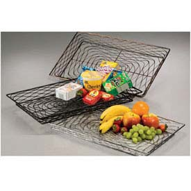 American Metalcraft BNBC20132 - Birdnest Basket, 20 x 13 x 2, Rectangular, Wire W/Chrome Finish