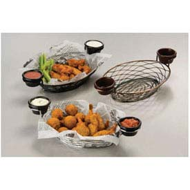 American Metalcraft BNBC281 Birdnest Basket, 11 x 8 x 3-7/8, Oval, W/Ramekin Holder, Wire,... by