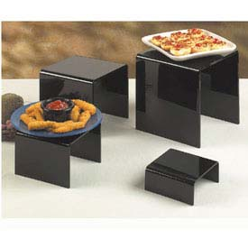 American Metalcraft BRS2 - Riser Set, Four Piece, Black Acrylic