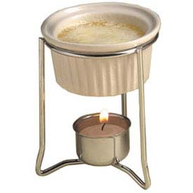 American Metalcraft BWR34 Butter Warmer, With 2 Oz. Ceramic Ramekin, Stand, Votive Holder & Candle by