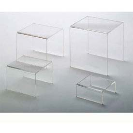 American Metalcraft CRS1 - Riser Set, Four Piece, Clear Acrylic
