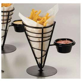 "American Metalcraft FBS591 French Fry Basket, Conical, (1) Ramekin, 9""H, Black... by"