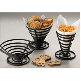 "American Metalcraft FCD1 French Fry Basket, 5"" Dia. x 6-3/4""H, Flat, Coil, Black by"