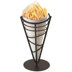 "American Metalcraft FFB59 Ironworks French Fry Basket, Conical, 9-1/2""H, Black... by"