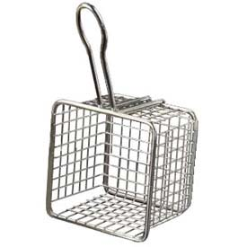"American Metalcraft FRYS443 Tabletop Serving Fry Basket, 4"" Square x 3""H by"