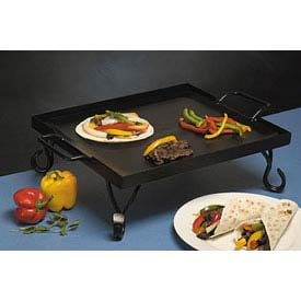 Click here to buy American Metalcraft GS16 Griddle, 16 x 16 x 5, Includes Stand, Black Wrought Iron.