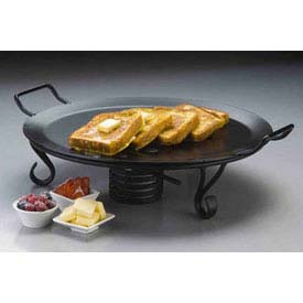 "Click here to buy American Metalcraft GS18 Griddle, With Stand, 18"" Dia., Round, Black."