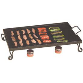 Click here to buy American Metalcraft GS27 Griddle, 27 x 16 x 5, Includes Stand, Black Wrought Iron.