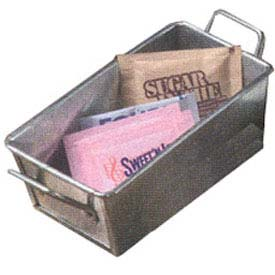 American Metalcraft GSP35 Sugar Packet Holder, 5 x 3, Galvanized Silver by