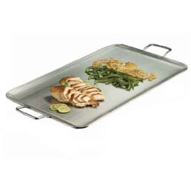 Click here to buy American Metalcraft GSSS1526 Griddle, 26-1/2 x 15 x 6, With Handles, Rectangular.