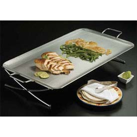Click here to buy American Metalcraft GSST2514 Griddle Stand, x -Leg, 25 x 14 x 4, Rectangular.
