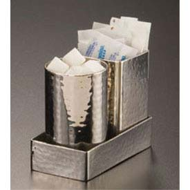 "American Metalcraft HMSPT5 Sugar Packet Holder, 2"" Square x 2-3/4""H, Hammered... by"