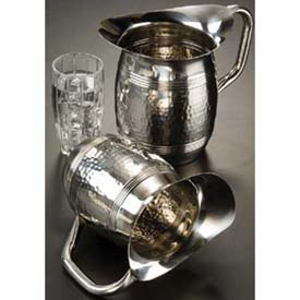 "Click here to buy American Metalcraft HMWP85 Bell Water Pitcher, 68 Oz., 8""H, Hammered Finish."