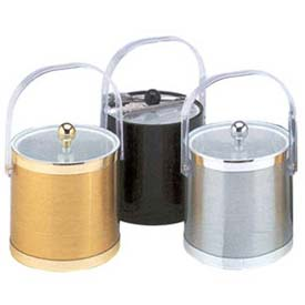 Click here to buy American Metalcraft IBB30 Ice Bucket, 3 Qt., Bale Handle, Lucite Lid, Black.